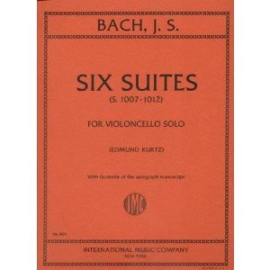 Bach, JS - 6 Suites BWV 1007 1012 for Cello - Arranged by Kurtz - International Edition